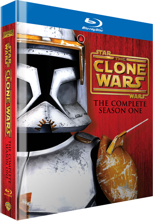 'Star Wars: The Clone Wars - The Complete Season One' Blu-ray Cover Art